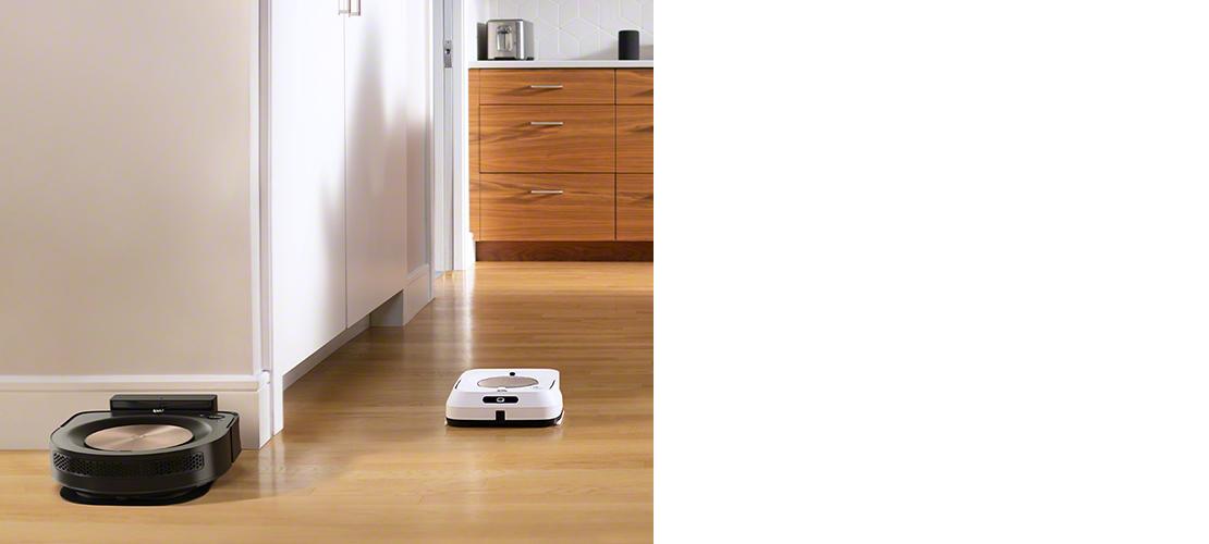 Kết hợp robot hút bụi và robot lau nhà