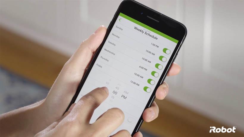 Cài đặt lại đồng hồ và lịch trình thông qua App iRobot Home