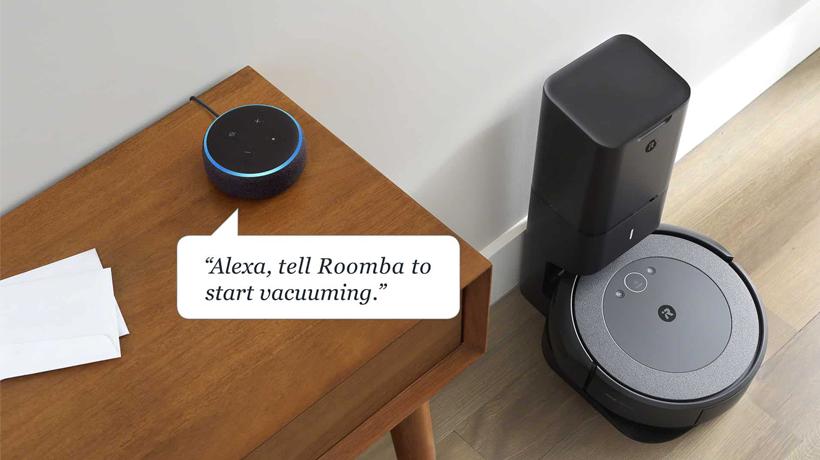 Ra lệnh bằng giọng nói cho Roomba i3+ bằng Amazon Alexa hoặc Google Assistant
